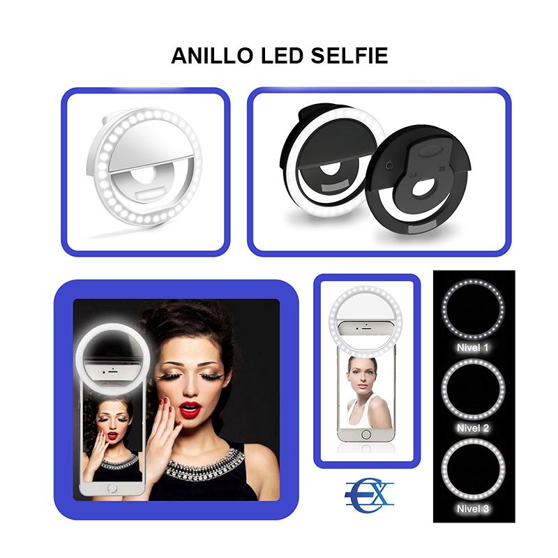 anillos de luz selfie movil