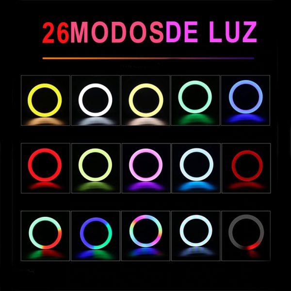 aro de luz colores