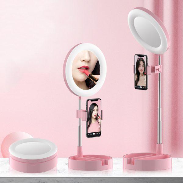 aro de luz con espejo
