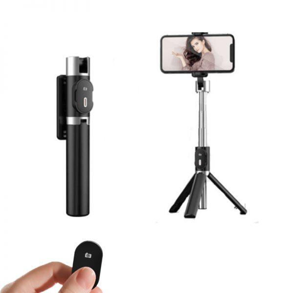 palo selfie con mando bluetooh