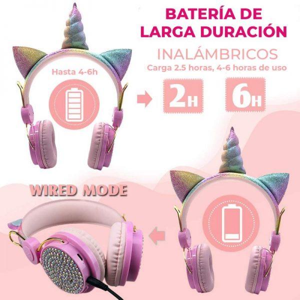 auriculares unicornio