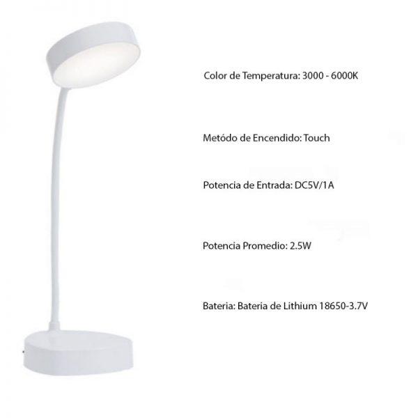lampara tactil