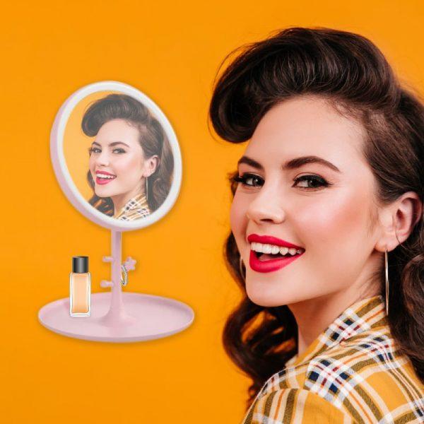 luz espejo maquillaje